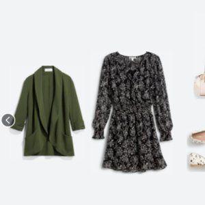 FRENCHMAUVE Melanie Knit Tunic Blazer